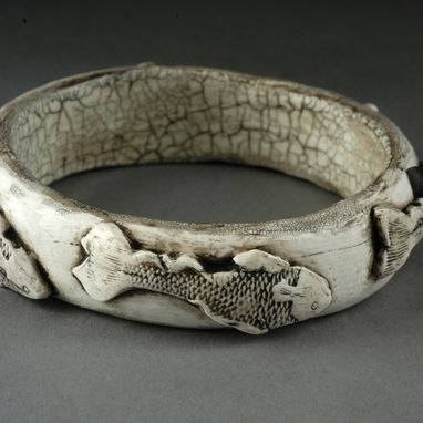 Custom Made Ancient Ivory Fish Bracelet