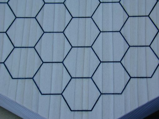 "Custom Made Hexagonal Goban - About 2"" Thick, Poplar, Small Feet On Bottom"