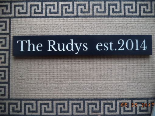 Custom Made Established Family Sign, Sign, Wedding Sign