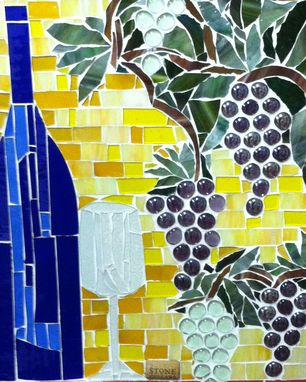Custom Made Wine Mosaic
