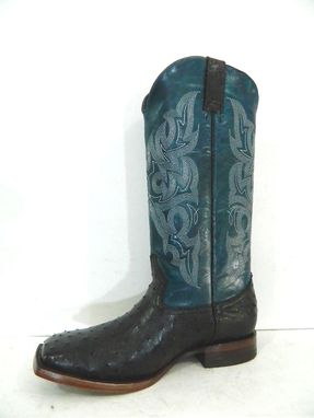 Custom Made Ostrich Full Quill Skin Cowboy Boots Made To Order To Your Size And Measurements
