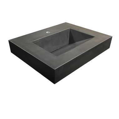 Custom Made 30in Concrete Floating Trough Sink