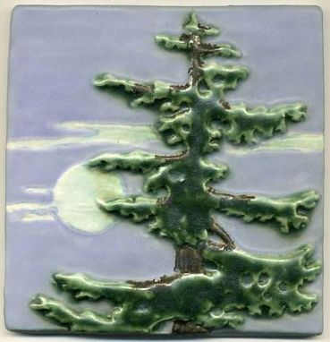 Custom Made Fir Triptych Art Tile Set
