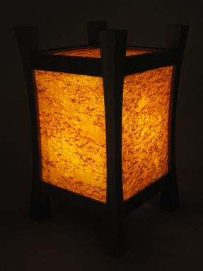 Custom Made Karelian Birch Lamp