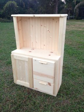 Custom Made Toy Kitchen Hutch