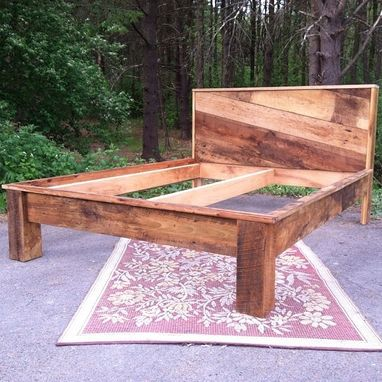 Custom Made Reclaimed Barnwood Bed
