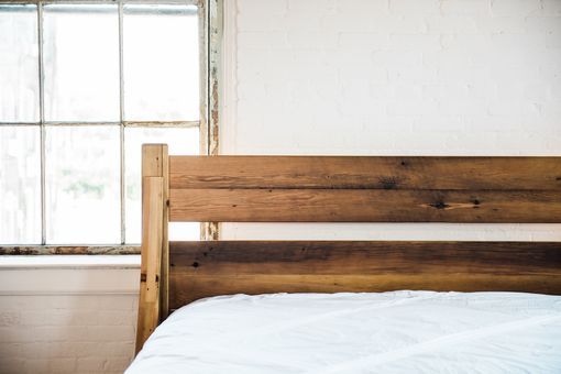 Custom Made Cooper Curve, Reclaimed Wood King Bed (Storiedboards)