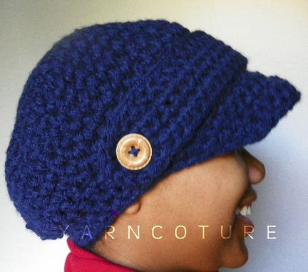 Custom Made The Incognito Brimmed Beanie - You Choose The Color - Brimmed Hat, Newsboy Hat