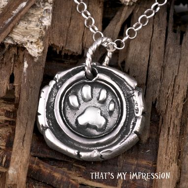 Custom Made Custom Sterling Silver Paw Print Monogram