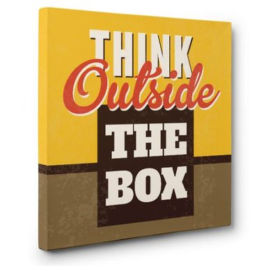 Custom Made Think Outside The Box Canvas Wall Art