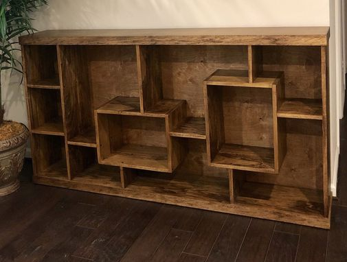 Custom Made Contemporary Or Mid Century Bookcase Or Room Divider Availble In Different Hardwoods