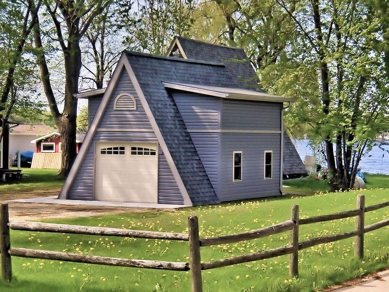 new construction designer boat housestorage shed