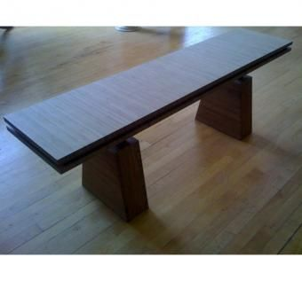 Custom Made Solid Bamboo Bench