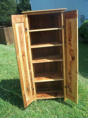 Custom Made 2 Door Jelly Cupboard Made From Reclaimed Antique Barnwood