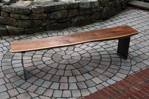 Custom Made Slab Wood And Natural Edge Benches Mantle Tabletops