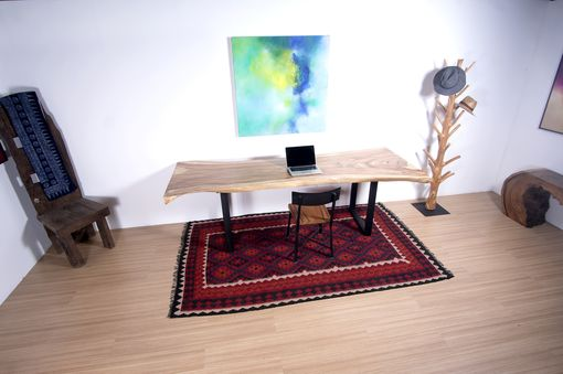 Custom Made Live Edge Wood Slab Table - Perfect For Conference Table / Dining Table
