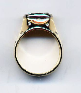 Custom Made Wide, Custom Marquis And Mellee Gold Ring