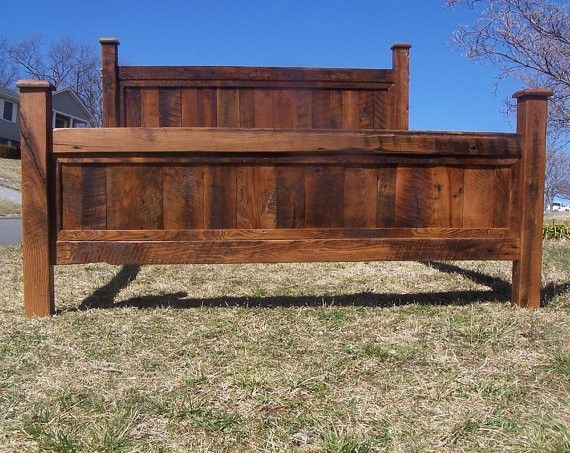 Buy a hand made king size bed frame made from reclaimed for Buy reclaimed barn wood
