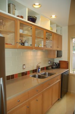 Custom Made Custom English Oak Kitchen Cabinets, Remodel