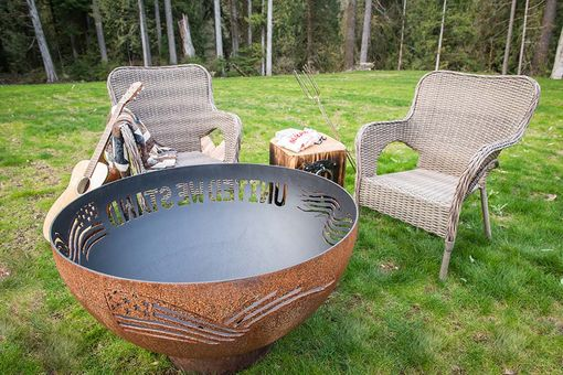 Custom Made United We Stand Fire Pit