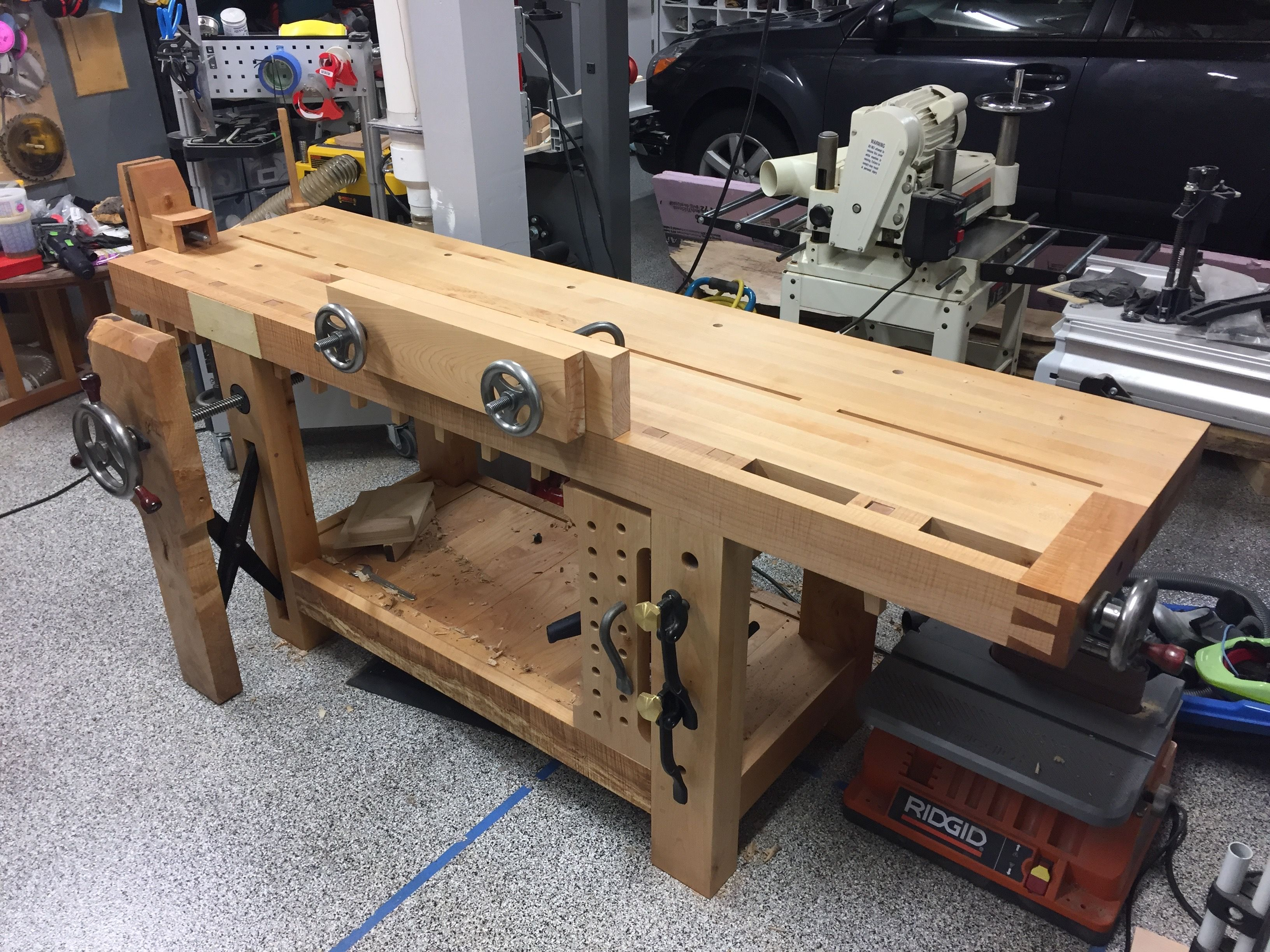 Hand Made Roubo Workbench With Benchcrafted Hardware By