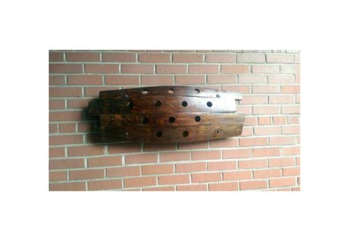 Custom Made Reclaimed Barrel-Stave Wine Rack