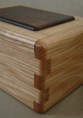 Custom Made Walnut And Ash Keepsake Box