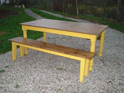 Custom Made Dining Room Table And Bench