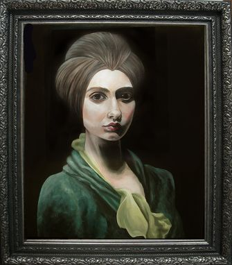Custom Made Chiara-Acrylic Portrait, Framed