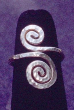Custom Made Spiral Ring In Sterling Silver