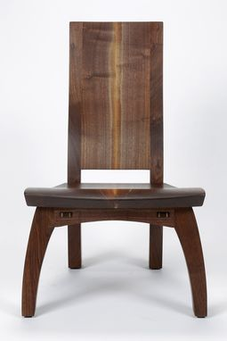 Custom Made Lounge Chair In Walnut