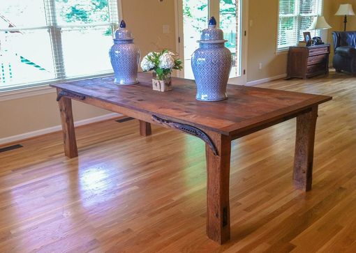 Custom Made Dining Table Reclaimed Oak Barnwood