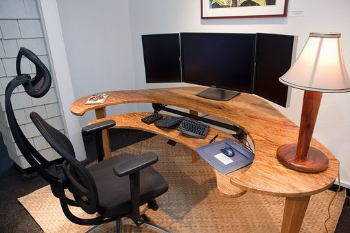Handmade Custom Computer Desk By Keaau Fine Art