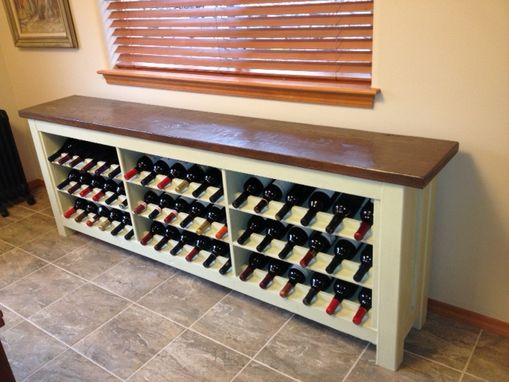 Custom Made Wine Storage Buffet Table