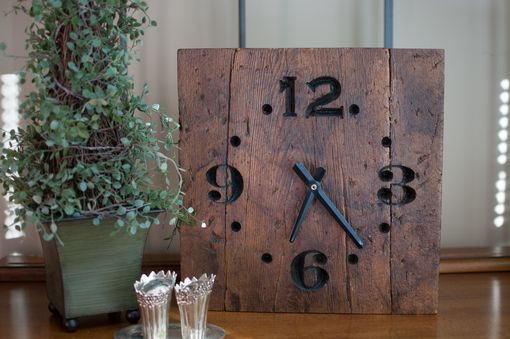 Custom Made Rustic Reclaimed Wood Clock