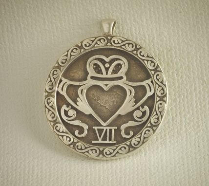 Custom Made Sterling Silver Claddagh Pendant