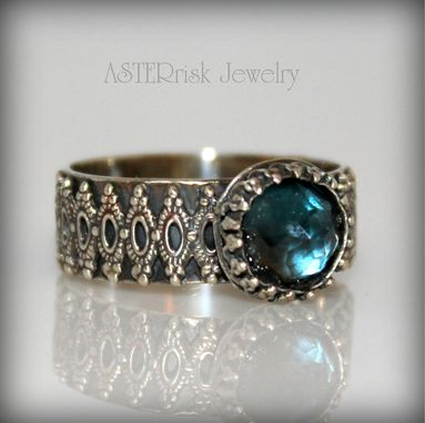 Custom Made London Blue Topaz Ring