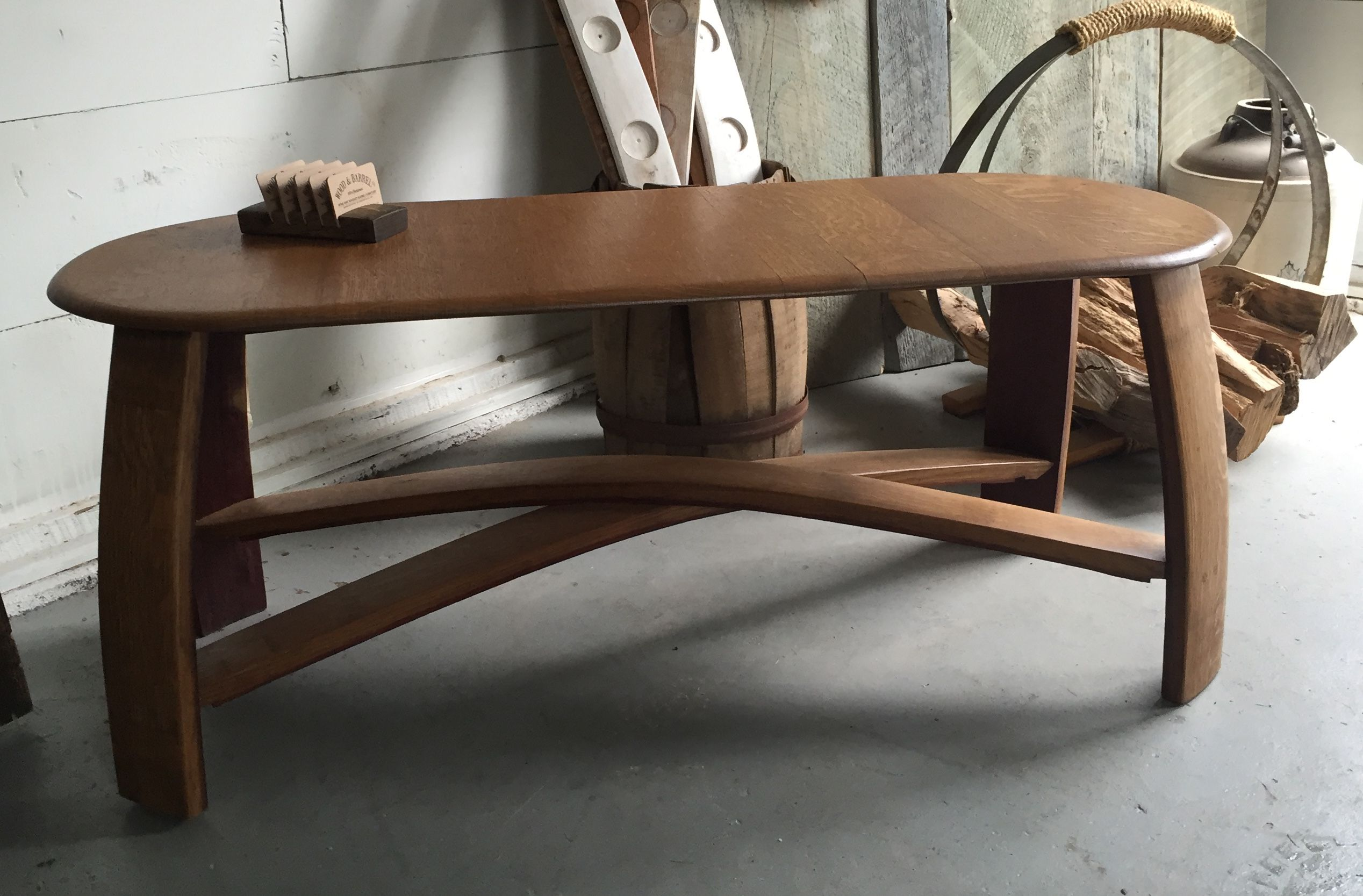 Buy A Custom Made Wine Barrel Stave Coffee Table Made To Order From
