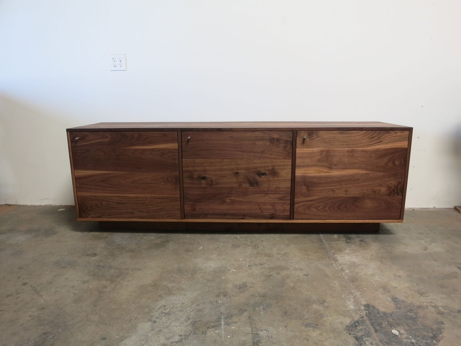 Hand Made Walnut Credenza By Travis Hayes Furniture