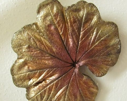 Custom Made Ladys Mantle Leaf Casting.