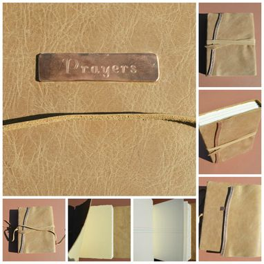 Custom Made Custom Order Leather Bound Notebook Lined Personalized (470)