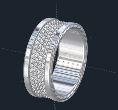Custom Made Men's Rope Wedding Band