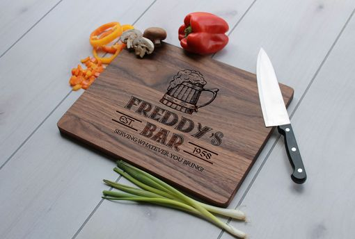 Custom Made Personalized Cutting Board, Engraved Cutting Board, Custom Wedding Gift – Cb-Wal-Freddy's Bar