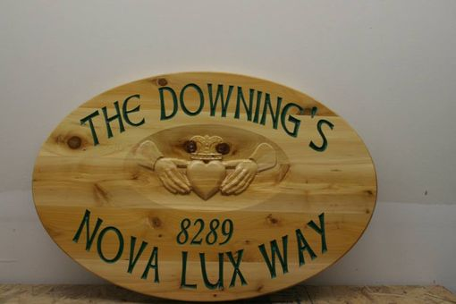 Custom Made 3d Loon Carved Cedar Sign