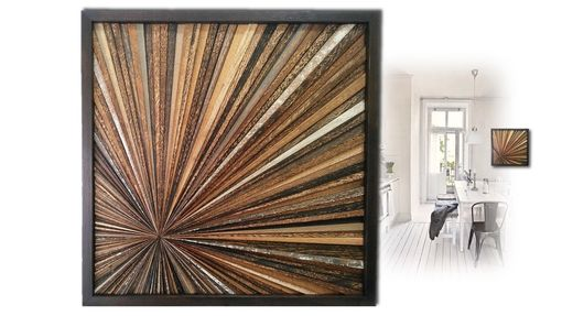 Custom Made Reclaimed Wood Wall Art Custom Made Starburst Frameless Rustic Modern Wood Abstract Wall Art