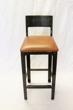 Custom Made Simplified Industrial Boiler Bar Stool Collection