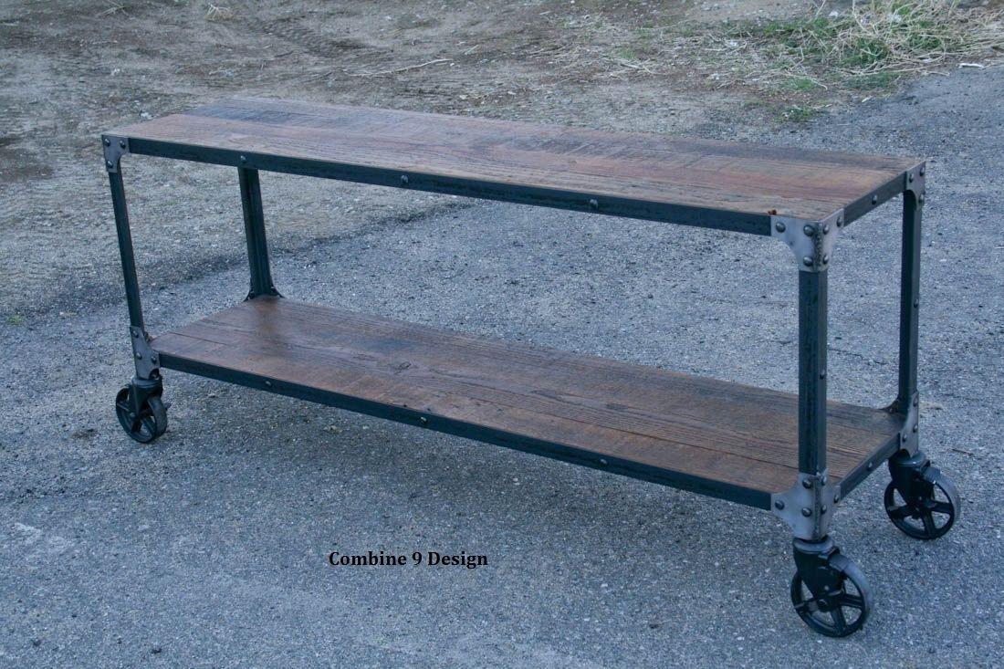 Buy a Custom Reclaimed Wood, Rustic Sofa Table. Console Table. Cart ...