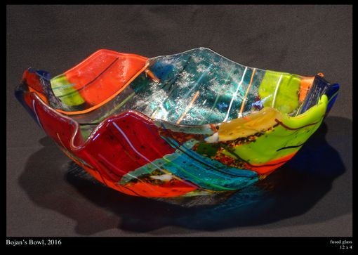Custom Made Fused Glass Serving Bowls