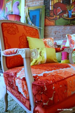 Custom Made Upholstered Vintage Furniture Re Purposed In Tricia Guild Fabrics And Hand Painted On Canvas