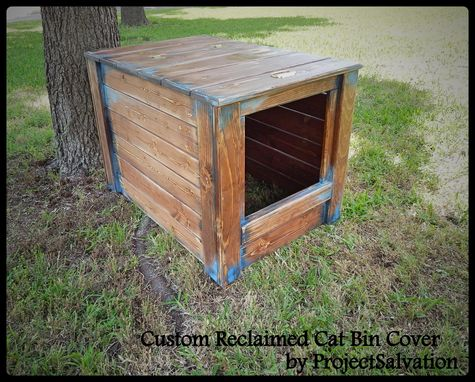 Custom Made Cat Litter Box Cover / Dog House / Cat Bin / Pet Storage